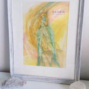 Divine timing, original art, intuitive art