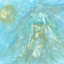 original drawing Mother Mary energy
