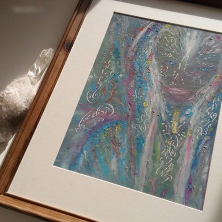Sanan-nija_original framed SASKIA Art and Healing