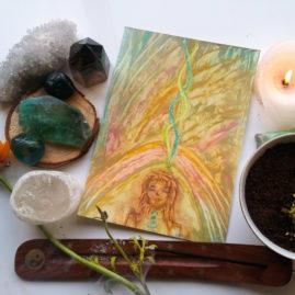 goddess art herbs witches