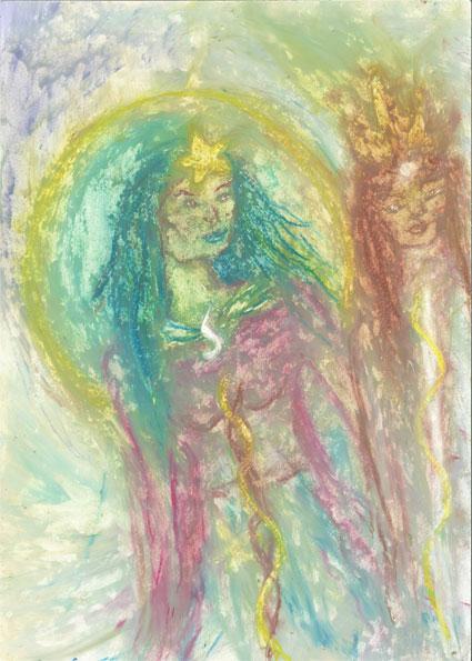 Goddess Sopdet dances around the Stars - Saskia Art and Healing