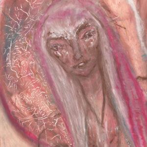 Mary Magdalene, divine feminine art, cosmic mother, womb art